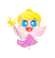 flying butterfly fairy vector image