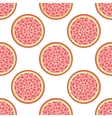 Grapefruit abstract seamless pattern vector image vector image