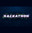 hackathon background hack marathon coding event vector image vector image