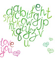 hand drawn font hand brushed calligraphic vector image