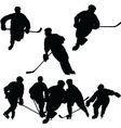 hockey silhouettes vector image