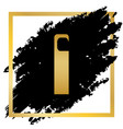 hotel door hanger tag sign golden icon at vector image vector image
