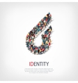identity people sign 3d vector image vector image
