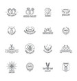 jewellery logo luxury icons set outline style vector image vector image