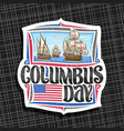 logo for columbus day vector image vector image