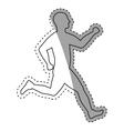 man running fitness vector image vector image