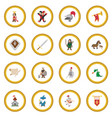medieval cartoon icon circle vector image vector image