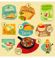Mexican Food Menu Mini Labels vector image