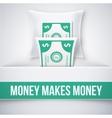 Money makes money vector image