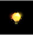 new idea logo light bulb abstract icon vector image vector image