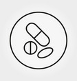 pills bottle universal icon editable vector image vector image