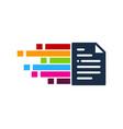 pixel art document logo icon design vector image vector image