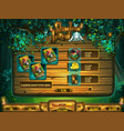 playing field slots game for shadowy forest gui vector image vector image