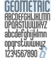 Poster black geometric stylish ink font and vector image vector image