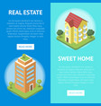 real estate in town horizontal flyers vector image