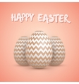 Realistic Easter Egg Set Happy Easter vector image vector image