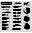 Set of brush stroke stains isolated vector image