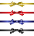 Silk Ribbons Set vector image