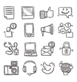 Social Media Icons Set vector image vector image