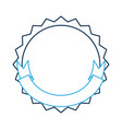 stamp with ribbon icon vector image