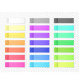 sticky paper notes with shadow effect blank color vector image