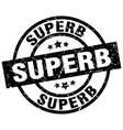 superb round grunge black stamp vector image vector image