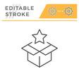 surprise editable stroke line icon vector image vector image
