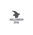 The emblem or poster for Halloween 2016 with the vector image vector image