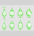 transparent green drops vector image vector image