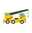 Truck with crane icon flat style vector image vector image