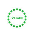 vegan title about green apples circle around vector image vector image