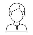 young man avatar character vector image vector image