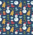 childish christmas seamless pattern vector image