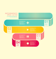 Modern Curve soft color Design template vector image