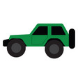 a green high-performance car for off-road vector image vector image