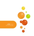 Abstract background with soap bubbles vector image