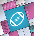 american football icon sign Modern flat style for vector image