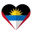 Antigua and Barbuda flat heart flag vector image vector image