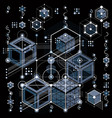 architectural blueprint digital background with vector image