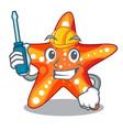 Automotive underwater sea in the starfish mascot