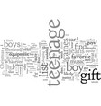 awesome gift ideas for the teenage dude vector image vector image