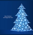 background with christmas tree design new year vector image