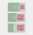 Banknote sale label vector image vector image