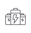 batteryenergy power line icon sign vector image vector image