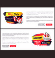 black friday sale banner with presents in boxes vector image vector image