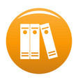 book lawyer icon orange vector image vector image