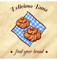 Bread On A Napkin 14 vector image vector image