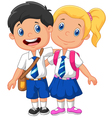 Cartoon school children vector image