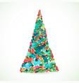 christmas color tree holiday card season vector image vector image
