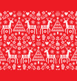 christmas folk art seamless pattern vector image vector image